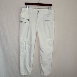Blanknyc skinny moto Jeans zippers white size 30
